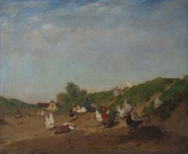 Scène de basse-cour (Philibert-Léon Couturier, 1876)