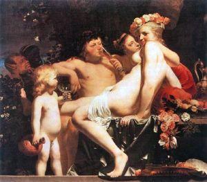 Vénus, Bacchus et Cupidon (Cæsar van Everdingen, XVIIe s.)
