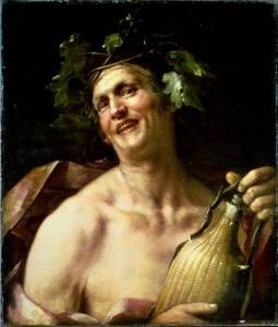Autoportrait en Bacchus (Jan Van Dalen, XVIIe s.)