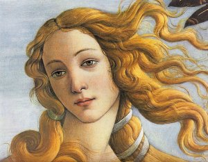 Détaile de la Naissance de Vénus (Botticelli, 1485)