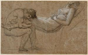 Chactas embrassant les jambes d'Atala (Girodet De Roussy, vers 1808)