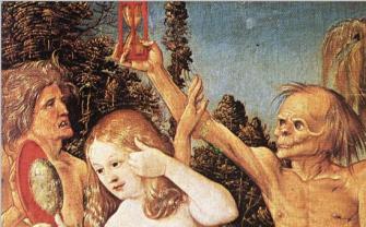 Les trois âges (détail) Hans Baldung Grien (1510)