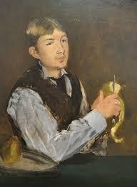 Jeune homme pelant une poire (Manet, 1868)