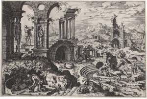 Paysage avec saint Jérôme et le dieu Tibre (Jérôme Cock, 1552)