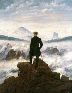 Voyageur contemplant une mer de nuages (Caspar David Friedrich, 1818)
