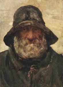Tête d'un vieux marin (Arthur-Louis Soclet, 19e siècle)