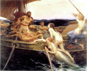 Ulysse et les sirènes (Herbert James Draper, 1909)