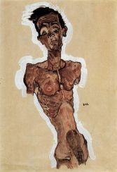Autoportrait (EgonSchiele, 1911)