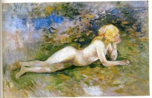 Bergère nue couchée (Berhe Morisot, 1891)