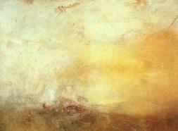 Lever de soleil avec monstres marins (Turner, vers 1845)