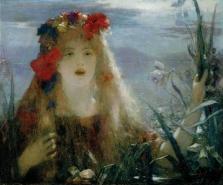 Nellie Melba dans le rôle d'Ophélie (Henri Gervex, vers 1910)