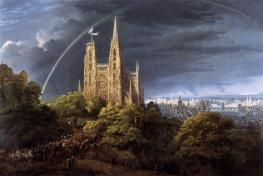 cathedrale-gothique-avec-palais-imperial-karl-friedrich-schinkel-1805
