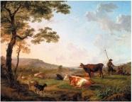 troupeaux-dans-une-prairie-pres-dune-riviere-balthazar-paul-ommeganck