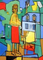 femme-stylisee-au-balcon-emile-lahner-1893-1980
