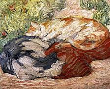 chats-sur-un-tapis-rouge-franz-marc