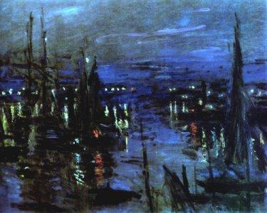 Port du Havre, effet de nuit (Claude Monet,1873)